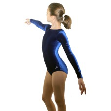 Bloch Leo Velvet, long sleeved gym leotard for children