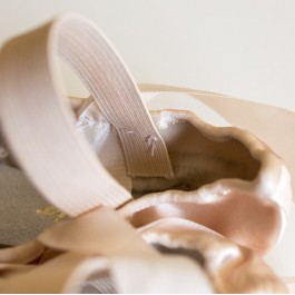 How to sew elastic bands onto ballet shoes tutorial