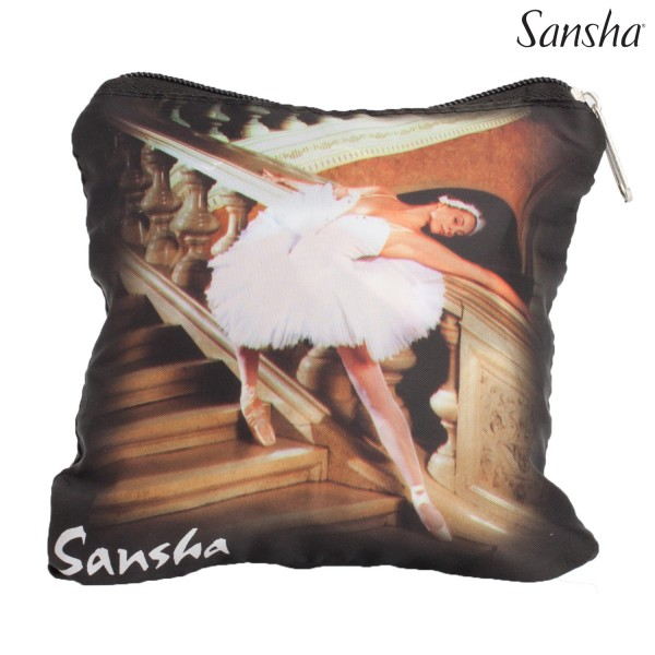 <span style='color: red;'>Out of order</span> Sansha foldable shopping bag with dance print