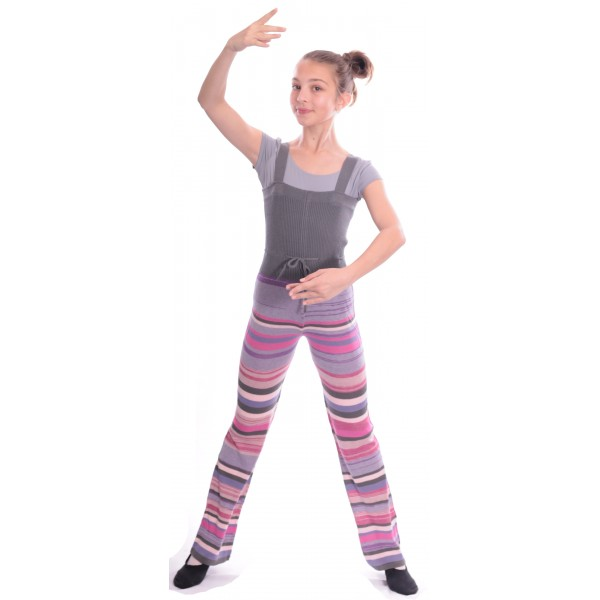 Sansha Finlay, multi-coloured knit unitard