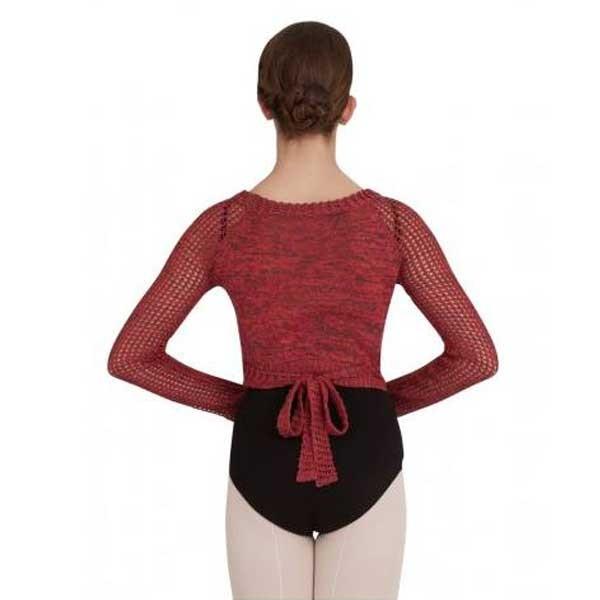 Capezio Crop Wrap Top CK1000W, knit top