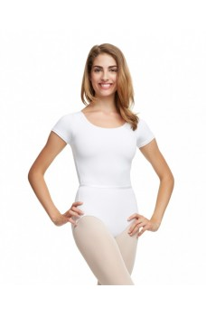 Capezio TC0054W short sleeve leotard with belt