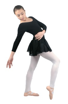 Capezio leotard with long sleeve and skirt