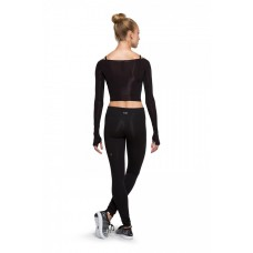 Long sleeve crop top Bloch