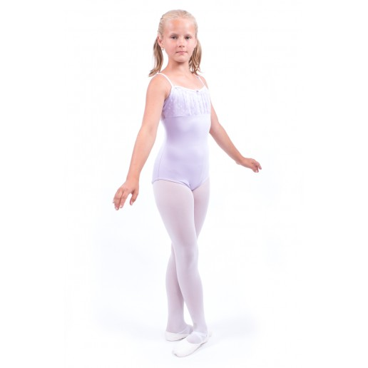 Capezio, thin strap leotard with lace