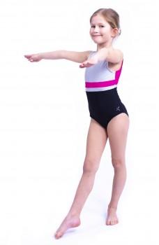 Capezio Stick the Landing boat neck, gymnastics sleeveless leotard for girls