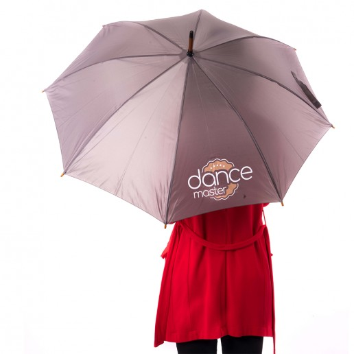 DanceMaster umbrella with a curved handle