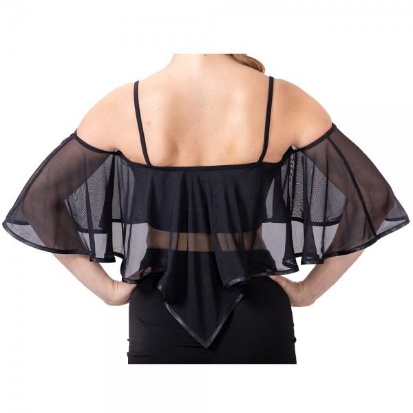 Romantic top with ruffles and straps
