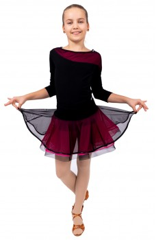 Training skirt with hem for girls
