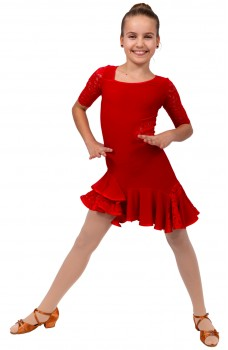 Latin dance dress Basic for girls