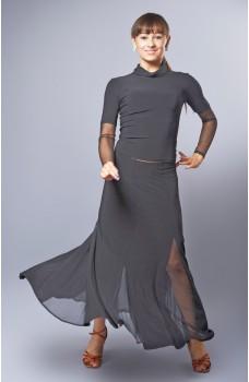 Training skirt for standard basic dances
