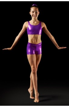 Bloch Leos Foil V-front Short, shorts for women