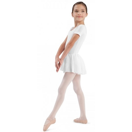 Bloch Tiffany, a cotton leotard with short sleeves and a skirt