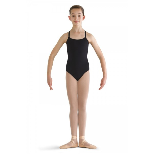 <span style='color: red;'>Out of order</span> Bloch cotton leotard with adjustable straps