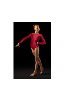 Bloch Leo Velvet, long sleeved gym leotard