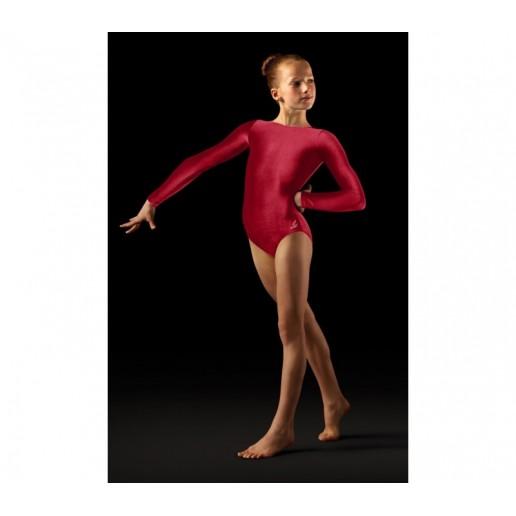 <span style='color: red;'>Out of order</span> Bloch Leo Velvet, long sleeved gym leotard