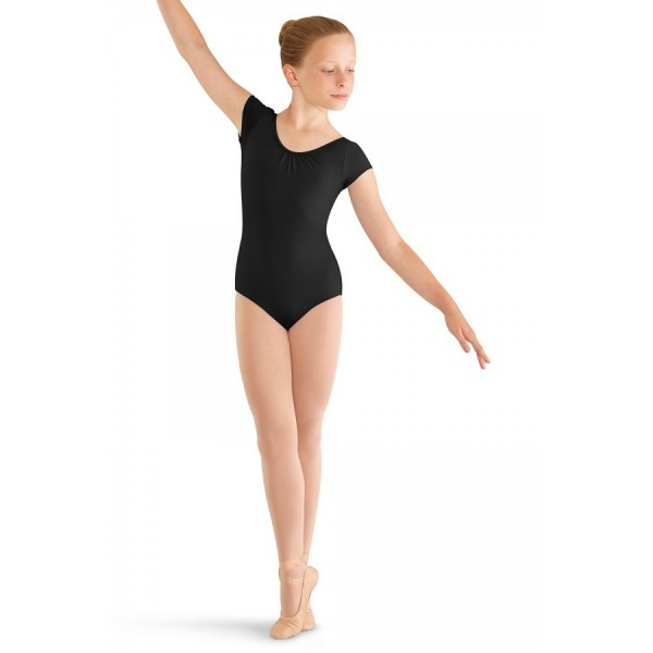 Mirella M414C, 3 Bow back cap sleeve leotard