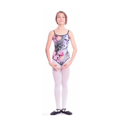 <span style='color: red;'>Out of order</span> Bloch Sabella flowers, reversible ballet leotard