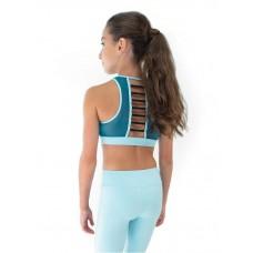 Capezio Colourblock High Neck Bra Top, sporty bra