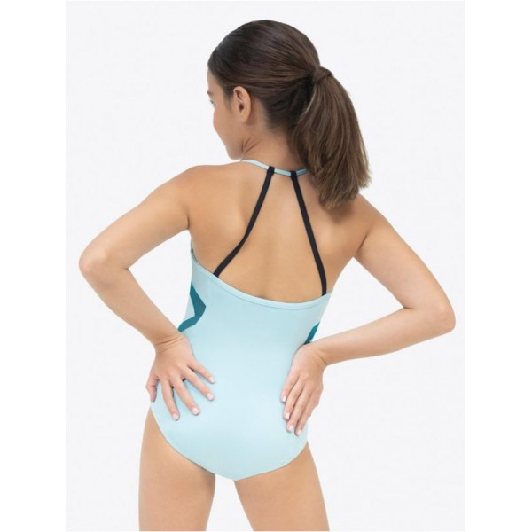 Capezio colorblock Halter Strap Leotard, leotard for girls