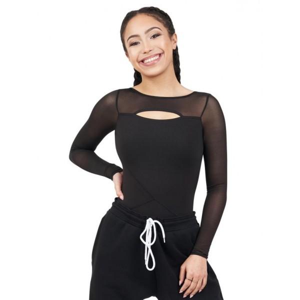 Capezio Dance Active Front Keyhole long sleeve leo, leotard for women