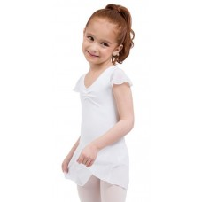 Capezio flutter sleeve dress, leotard with skirt