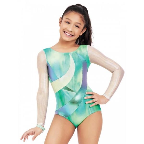 Capezio Gymnastics long sleeve leotard for girls