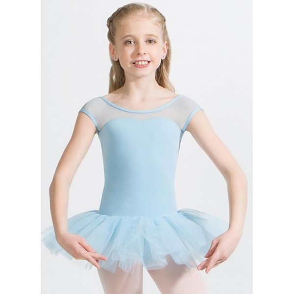 Capezio Keyhole Back Tutu Dress, a leotard with a tutu skirt for children