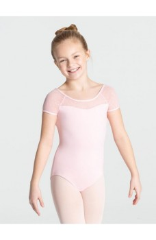 Capezio swiss dot keyhole back, leotard for kids