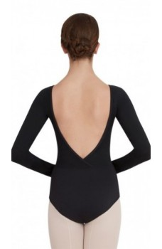 Capezio V neck long sleeve leotard