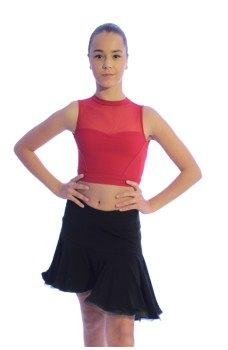 Latino dance skirt for girls basic