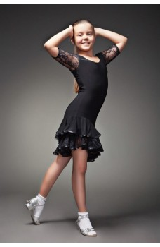 Latin dance dress 216 for girls