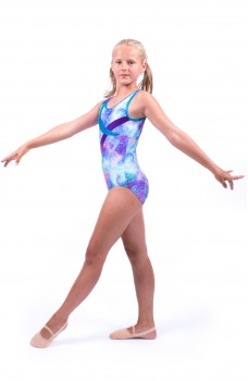 Capezio gymnastic leotard with thick straps