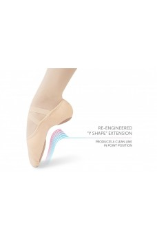 Intrinsic Profile 2.0, elastic ballet slippers for flat feet, adults