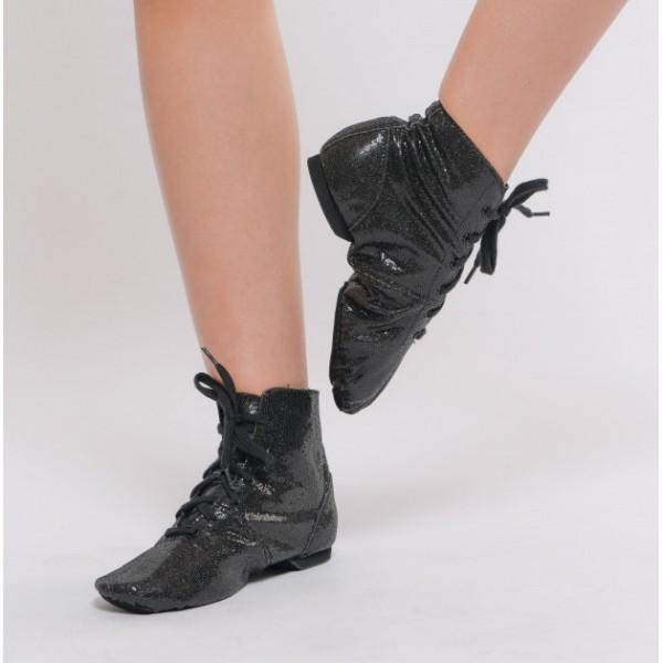 Shinny, glitter jazz boots for children