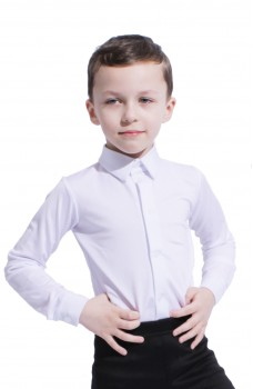 Ballroom dance shirt, body basic for boys
