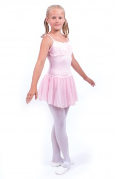 Capezio Swiss Dot Cinch Waistband Layer Skirt, skirt for little girls
