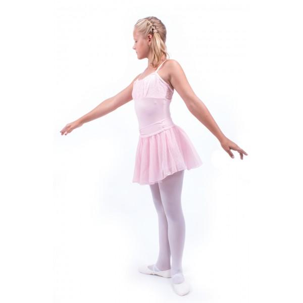 Swiss dot cinch, dotted skirt