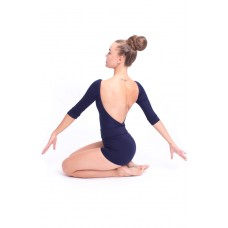 Capezio boatneck 3/4 sleeve leotard